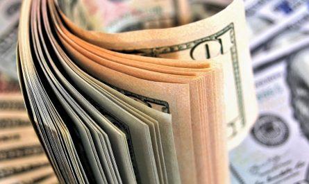 billet banque dix dollars liasse